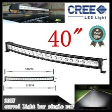 40 INCH 200W CREE CURVED LED LIGHT BAR  SINGLE ROW COMBO OFFROAD DRIVING SUV ATV