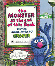 SESAME STREET THE MONSTER AT THE END OF THIS BOOK LITTLE GOLDEN BOOK  JIM HENSON