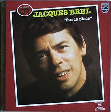 """JACQUES BREL  """"SUR LA PLACE""""  ALBUM OR   33T  LP"""