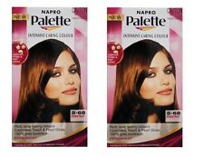 2 x NAPRO PALETTE INTENSIVE CARING PERMANENT HAIR COLOUR 5.68 CHESTNUT Brand New