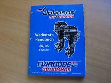 Werkstatthandbuch Johnson Evinrude Außenborder EC 1998 3Zyl 25 35 PS