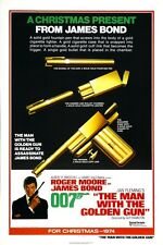 "JAMES BOND - THE MAN WITH THE GOLDEN GUN - MOVIE POSTER 12"" X 18"" ROGER MOORE"