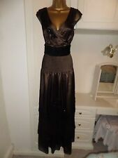 REDUCED! FAB LINED EVENING DRESS BY LAURA ASHLEY IN VG CON SIZE UK 14 BUST 38""