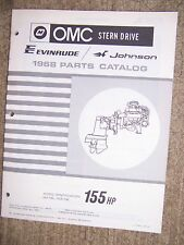 1968 OMC Evinrude Johnson Stern Drive 155 HP HU-16C HUE-16C Parts Catalog  V