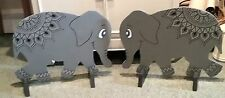 NEW 2 x ELEPHANTS hand painted show jump fillers pony horse show farm events