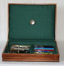 FOUNTAIN PEN CHEST, #523, VINTAGE, HAND-CRAFTED, HOLDS 22 PENS, SOLID WOOD, USA