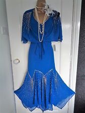 Joanna Hope beaded 1920's 30s flapper dress size UK 12 US 8 EU 40 Gatsby Downton