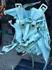 """Iron sculpture hand forged welded steampunk 28"""" artist art garden abstract face"""