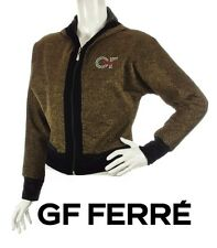 Gianfranco FERRE ~ NEW Gold Hooded jacket  ~ size: S / M * AUTHENTIC