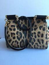 Authentic Dolce Gabbana Miss Sicily Leopard Print Shoulder/Hand Bag