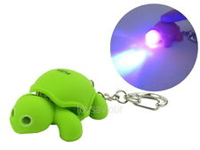Green Turtle Key Chain Ring with LED Light and Animal Sound