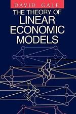 The Theory of Linear Economic Models, Gale, David, Good Book