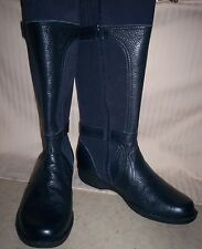 NEW NAVY LEATHER CLARK BOOTS  9 W