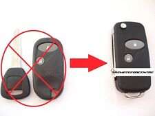 2 BTN FLIP KEY FOB CASE UPGRADE FOR HONDA ACCORD CIVIC HRV CRV S2000 REMOTE KEY