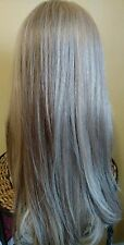 100% Human European Hair Wig Hand Tied Top Lace Front Blonde Long Small size