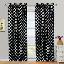 "Meridian Thermal Insulated Blackout Grommet Curtains (Set of 2) 104W x 96""L"