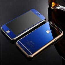 Blue Front & Back Mirror Effect Tempered Glass Screen Protector  for iphone 5/5s
