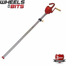 "50"" SYPHON SELF PRIMING ROTARY HAND OIL DRUM BARREL PUMP FUEL TRANSFER TOOL NEW"