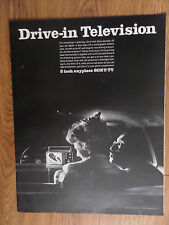 """1966 Sony TV Ad Drive-in Movies  5"""" Anyplace Television"""