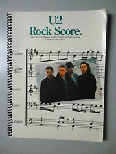 Spiral Bound U2 ROCK SCORE Songbook Sheet Music 5 Hits for Small Groups TAB