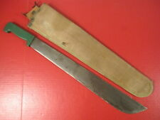 "post-WWII Era US Army 18"" Machete w/DOD Proof & Rigger Made Canvas Scabbard"
