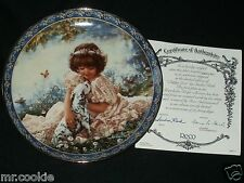 Puppy Love Plate by Sandra Kuck Friends for Keeps Collection 1st Issue COA