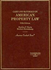 Cases and Materials on American Property Law (American Casebooks), Herbert Hoven