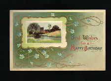 Used w 1c Stamp 1912 postmark Best Wishes for a Happy Birthday series No. 2309