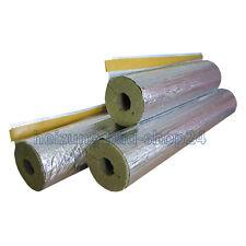 1 m Steinwolle Isolierung Rohrisolierung alukaschiert 111/114 100% EnEV