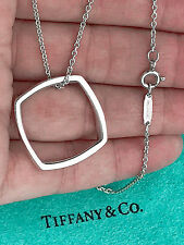 Tiffany & Co Frank Gehry Sterling Silver Large Torque Square Pendant Necklace