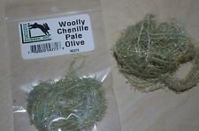 Hareline Dubbin Fly Tying Woolly Chenille Pale Olive 5 yards per pack