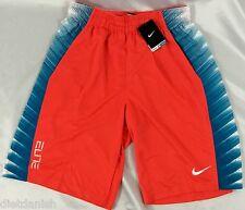Nike MEN'S Athletic Shorts Dri-Fit Orange Color 671 Hyper Elite 789862 Size M