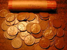 1951-S LINCOLN WHEAT CENT PENNY ROLL, nice condition