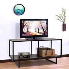 TV Stand Entertainment Center Media Console Metal Frame Home Furniture New