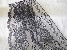Lace Trim, 4 Inches Wide, Assorted Colors, 5 YARDS, Flat Lace, Raschel Lace