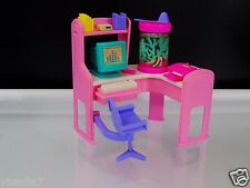 Vintage Barbie Magic Moves Home Office Interactive Computer Desk Fish Tank 1994