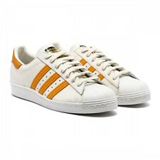 ADIDAS ORIGINALS SUPERSTAR 80's MEN'S SHOES SIZE US 9 OFF WHITE ORANGE S75842