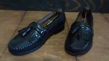 G.H. Bass All Leather Tassel Kiltie Moc Toe Loafers Men's 10 Made in El Salvador