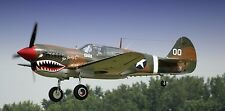P-40 Tomahawk Curtiss P40 Fighter Airplane Desk Wood Model Big New
