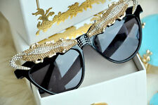 NIB ANNA DELLO RUSSO H&M CROCODILE golden sunglasses RARE ICONIC
