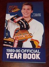 Vancouver Canucks yearbook  1989-1990  NHL Trevor Linden all rookie team cover