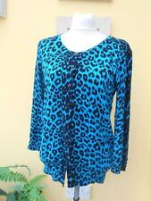M&Co. turquoise and black animal print cardigan size S