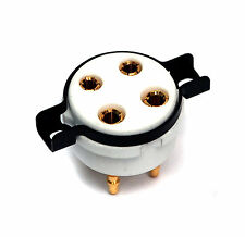 2pc CMC Bone China Ceramic Gold plated Pins 4P Tube Socket 2A3 300B 80