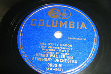 "BRUNO WALTER 12"" 78 RPM STRAUSS Gypsy Baron part 1 & 2 Columbia 9083-M EX"