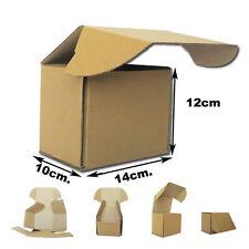 25 Cajas Postales Automontables de cartón Marrón. Medidas 14x10x12cm Square box
