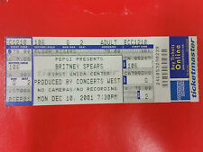 BRITNEY SPEARS - Ticket 10.12.2001 Dream Within A Dream Tour - Philadelphia USA