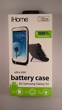 *~ iHome Ultra Slim Battery Case and battery for Samsung Galaxy S3 in Black *~