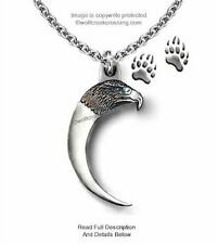 RUGGED EAGLE BEAR CLAW NECKLACE - MALE OR FEMALE PENDANT JEWELRY GIFT SALE  C24*