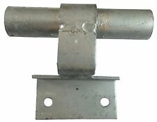 """WALL MOUNT ROLLING/SLIDING GATE TRACK BRACKET: for 1-5/8"""" Track Pipe Wall Mount"""