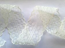 Vintage Style Lace Ribbon Trimming Bridal Wedding Decoration Scalloped Edge 47mm